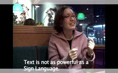"Video ""Power of Media for the Deaf"""